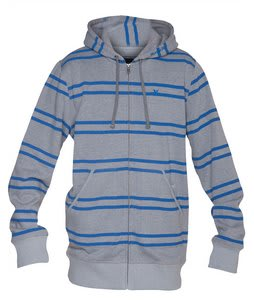 Hurley Foundry Stripe Hoodie Heather White