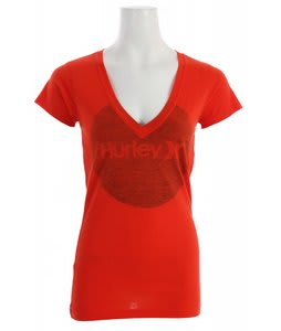 Hurley Krush & Only Perfect V T-Shirt Pinata Red