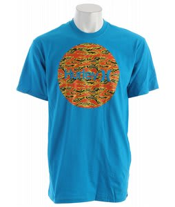 Hurley Krush & Only Tiger Fill T-Shirt Cyan
