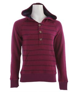 Hurley Montauk Fleece Hoodie Heather Acai Berry