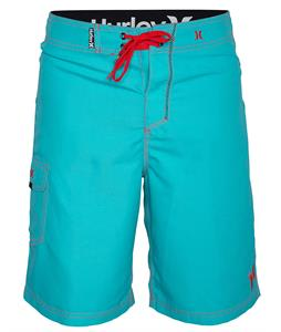 Hurley One & Only 19in Boardshorts Bright Aqua/Hot Red