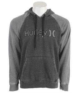 Hurley One & Only Burnout Raglan Hoodie Black
