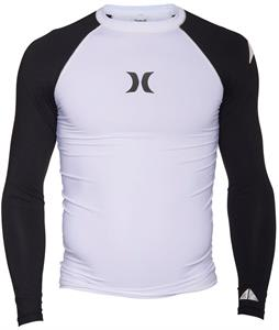 Hurley One & Only L/S Rashguard White/Black