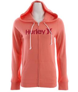 Hurley One & Only Slim Fleece Zip Hoodie Grapefruit
