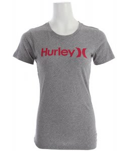 Hurley One & Only Perfect Crew T-Shirt Heather Grey