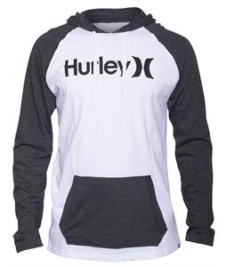 Hurley One & Only Jersey Hooded L/S Raglan White/Heather Black