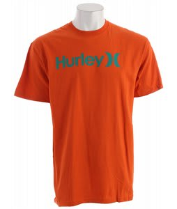 Hurley One & Only Seasonal T-Shirt Blaze Org2