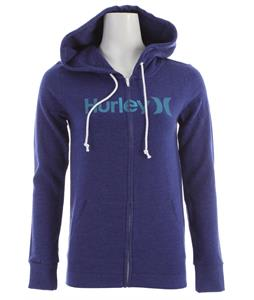 Hurley One & Only Slim Fleece Zip Hoodie Kensington Blue