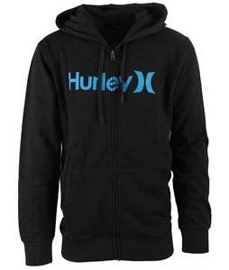 Hurley One & Only Zip Hoodie Heather Black 1