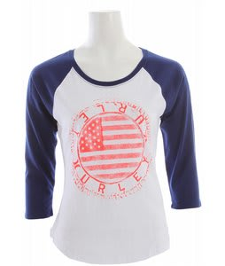 Hurley Patched Up Perfect Raglan Port Blue