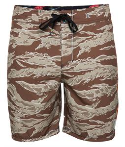 Hurley Phantom 30 Flammo Tiger Boardshorts Forge Brown