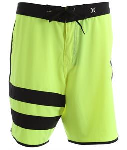 Hurley Phantom Block Party Solid Boardshorts Neon Yellow