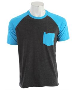 Hurley Premium Pocket Raglan Heather Neon Blue
