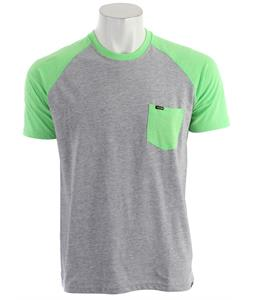 Hurley Premium Pocket Raglan Heather Neon Green