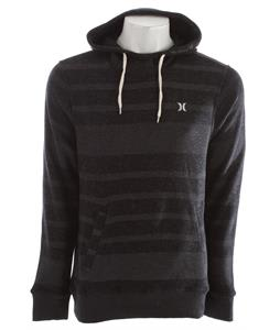 Hurley Retreat All Stripe Hoodie Heather Black