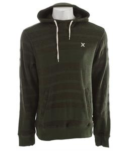 Hurley Retreat All Stripe Hoodie Heather Utility Green