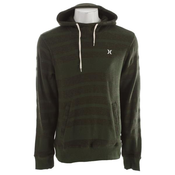 On Sale Hurley Retreat All Stripe Hoodie Heather Utility Green up ...