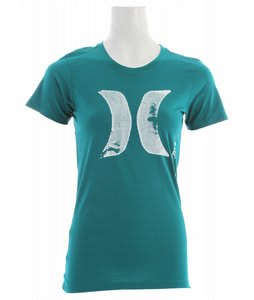 Hurley Scratch Fever Perfect Crew T-Shirt Aquatic