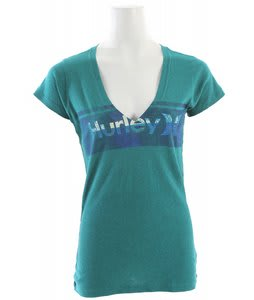 Hurley Spray & Only Perfect V Heathered T-Shirt Heather Aquatic Blue