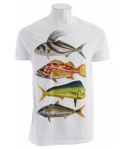 Hurley Stacked T-Shirt White