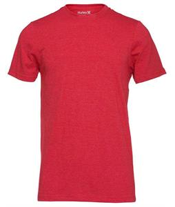 Hurley Staple Premium Crew T-Shirt Heather Red