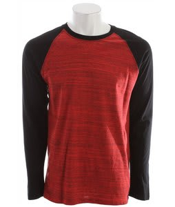 Hurley Staple L/S Marble Raglan Redline