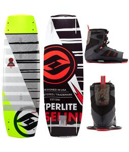Hyperlite Baseline Wakeboard 141 w/ Team OT Bindings 10-14