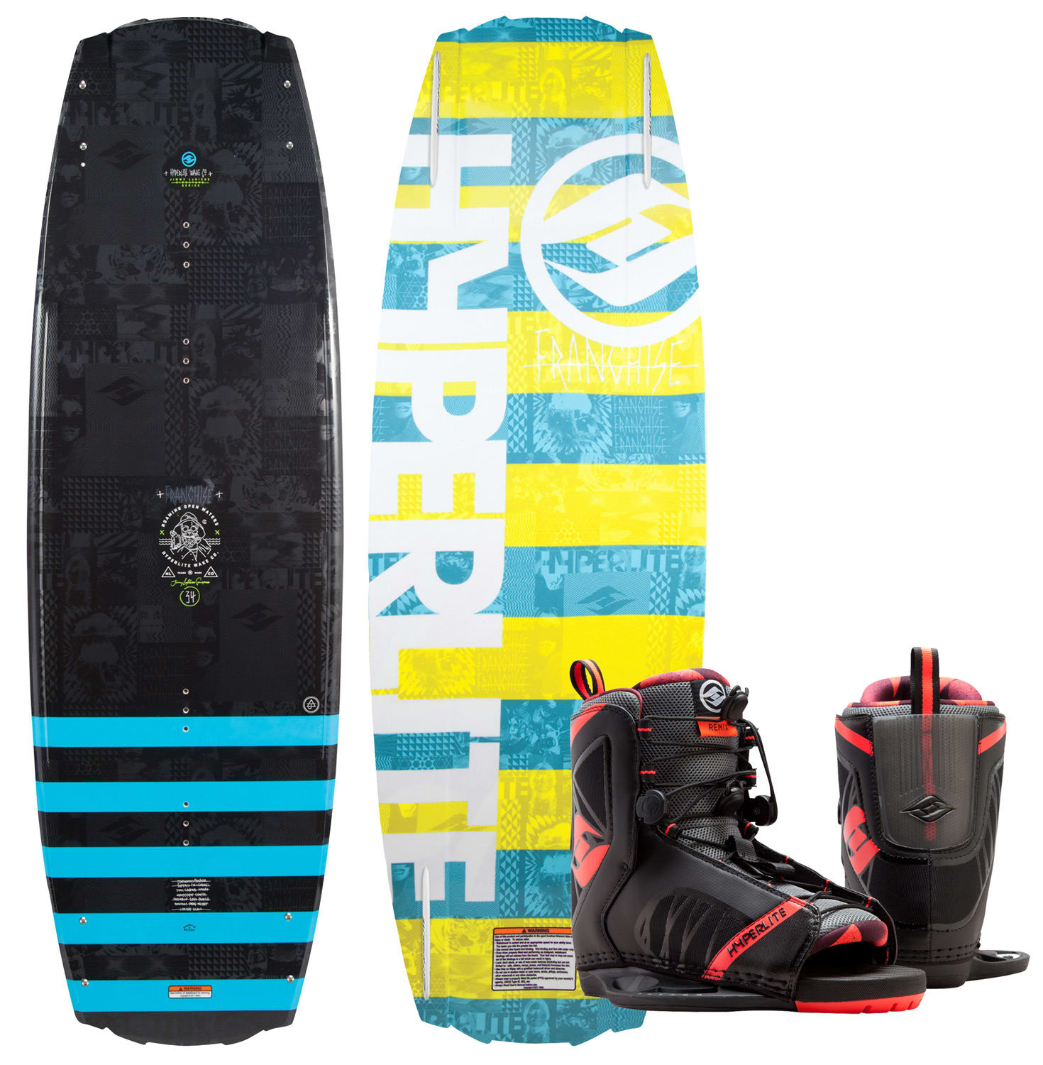 Hyperlite Franchise Wakeboard W Remix Bindings