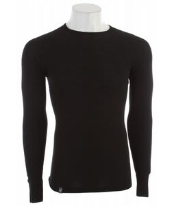 Ibex Woolies 150 Crew Baselayer Top Black
