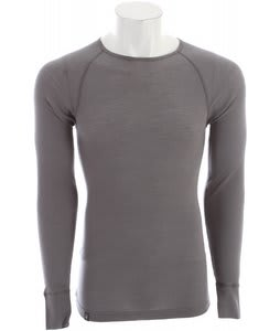 Ibex Woolies 150 Crew Baselayer Top Stone Grey