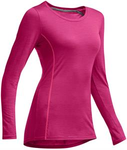 Icebreaker Aero L/S Crewe Baselayer Top Magenta/Shocking