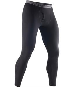 Icebreaker Anatomica Leggings w/ Fly Baselayer Pants Black/Monsoon