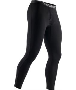 Icebreaker Apex Leggings w/ Fly Baselayer Pants Black