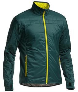 Icebreaker Helix L/S Zip Jacket Pine/Chartreuse