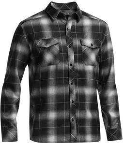 Icebreaker Lodge L/S Flannel Black/Metro HTHR/Snow