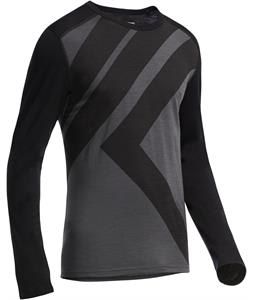 Icebreaker Oasis L/S Crewe Summit Baselayer Top Monsoon/Black