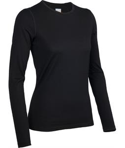 Icebreaker Oasis L/S Crewe Baselayer Top Black