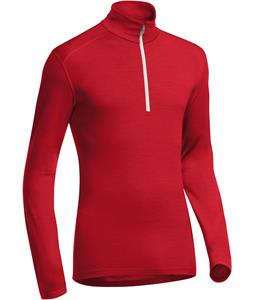 Icebreaker Oasis L/S Half Zip Baselayer Top Rocket/Snow