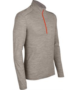 Icebreaker Oasis L/S Half Zip Baselayer Top Trail HTHR/Heat