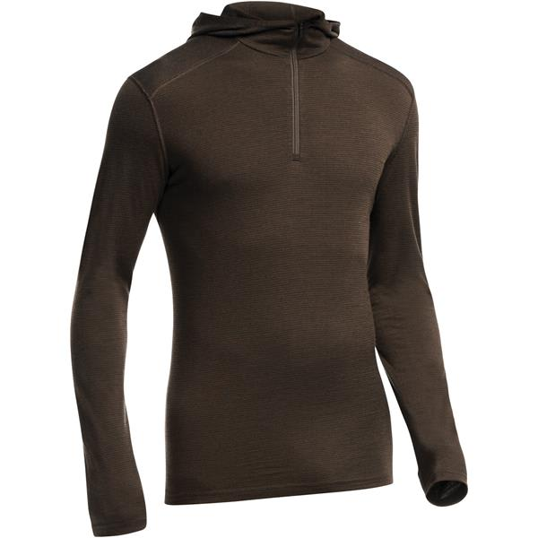 Icebreaker Oasis L/S Half Zip Stripe Hood Baselayer Top