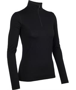 Icebreaker Oasis L/S Half Zip Baselayer Top Black