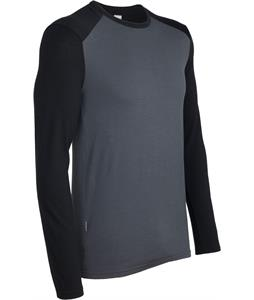 Icebreaker Tech L/S Crewe Baselayer Top Monsoon/Black