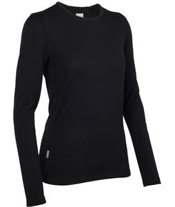 Icebreaker Tech L/S Crewe Baselayer Top Black