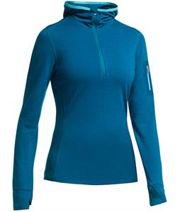 Icebreaker Terra L/S Half Zip Hood Baselayer Top