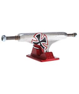 Independent Forged Hollow Skateboard Trucks Solo Cross Silver/Red 139mm