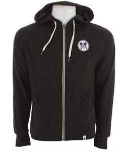 The Interior Plain Project Key Zip Hoodie Dark Heather Grey