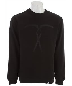 The Interior Plain Project Sickels Crew Sweatshirt Black