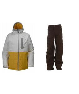 Burton Ante Up Puffy Jacket w/ Burton Ronin Cargo Pants