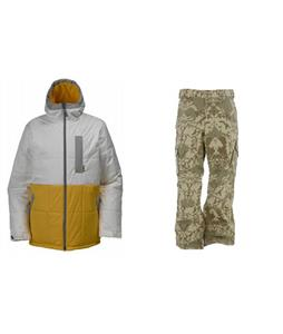 Burton Ante Up Puffy Jacket w/ Burton Cargo Pants