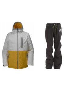 Burton Ante Up Puffy Jacket w/ Grenade Reg Pants